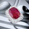 Monture Boucheron Fine Burmese Unheated Ruby and Diamond Ballerina Ring