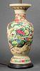 Signed Asian Enameled & Glazed Ceramic Lamp