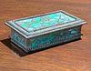 Riviere Studios Bronze Overlay Stamp Box c1910