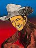 Fritz Scholder (American, 1937-2005) Happy Skies to You II, edition 79/100