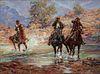 Bill Hill  (American, 1922-2009)  Untitled (Crossing a Stream)