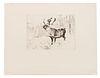 Carl Clemens Moritz Rungius (German/American, 1869-1959) A Woodland Stag