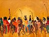 Earl Biss (Apsaalooke, 1947-1998) Warriors in the Late Day Sun