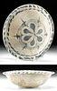 Abbasid Tin Glazed Ware Pottery Bowl, ex-Christie's