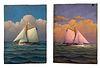 George Nemethy - pair of Marine Paintings