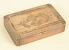 Sterling Silver Snuff Box having engraved boat on cover, opening to gold wash interior, marked sterling. Provenance: From the Lance ...