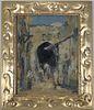 European School, Impressionist Street Scene, Signd
