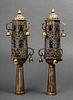 Judaica Antique North African Torah Finials, Pair