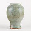 Chinese Longquan Celadon Vase - Cut Down