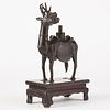 Chinese Ming Dynasty Bronze Deer w/ Stand