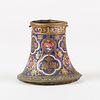 Early 19th c. Qajar Iran Persian Enameled Gold Qalian Bowl