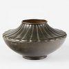 Japanese Meiji Bronze Vase Ikebana Vase Bowl - Marked