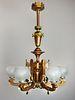 MITCHELL, VANCE and CO Renaissance Revival Style, Speltre Light Fixture (6 Light)