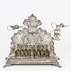 German .800 Silver Oil Menorah