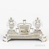 English Victorian Sterling Silver Inkwell