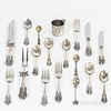 Group of Sterling Silver Flatware and a Sterling Silver Christening Cup