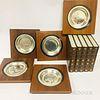 Five Franklin Mint James Wyeth Sterling Silver Commemorative Plates