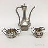 Three-piece Reed & Barton Sterling Silver Coffee Set