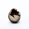 Tiny Pinch Pot with Leaves