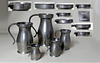 Set of Five (5) Boardman Pewter Measures