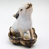 Chinese Glazed Pottery Rabbit Form Vessel