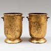 Two Régence Style Tôle Peinte and Gilt-Decorated Jardinières