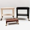 Three Telephone Tables