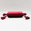 Small Velvet Upholstered Tabouret