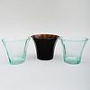 Group of Three Moser Glass Vases Produced for the Neue Gallery