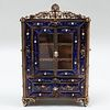 Miniature Silver-Gilt and Enamel Model of a Cabinet, Probably Austrian