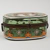 German Gilt-Metal-Mounted and Enameled Glass Coffret