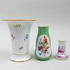 Group of Three Meissen Vases