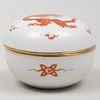 Meissen Porcelain Box in the 'Red Chinese Dragon' Pattern