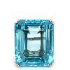 Platinum Aqua Diamond Ring