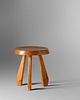 Charlotte Perriand  (French, 1903-1999) Stool from Les Arcs, Savoie