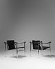 Charlotte Perriand, Pierre Jeanneret and Le Corbusier (French, 1903-1999 | Swiss, 1896-1967 | French/Swiss, 1887-1965) Pair of LC1 Armchairs, Cassina,