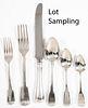 Assembled English silver flatware service