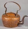 Lancaster, Pennsylvania copper kettle, 19th c.