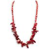 Chinese Polished Coral Beaded Necklace