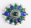 Chanel Vintage Brooch with Gripoix & Faux Pearls