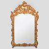 Louis XV Style Gilt Composition, Giltwood and Painted Mirror