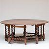 English Oak Gate Leg Table, Modern