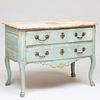 Italian Rococo Gilt-Metal-Mounted Blue Painted Commode