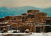 E. A. Burbank, Untitled (Taos Pueblo in Winter)