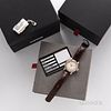 Oris Big Crown Pointer Date Wristwatch with Box and Papers, two-tone case with coin-edge rose gold bezel, engine-turned dial, and red-t