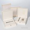 "S.T. Dupont Limited Edition ""Medici"" Pen and Lighter Set, fountain pen and lighter set number 0146/2420, rollerball number 0707/2420, w"