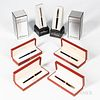 """Six S.T. Dupont Pens, """"Perspective 2000"""" fountain and rollerball pen set, and four rollerball pens."""