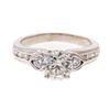 A 1.15 ct Round Brilliant Diamond Ring in 14K