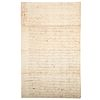Letter from J. P. Custis to G. Washington, 1781