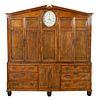 Rare George III Oak Inlaid Housekeepers Cabinet